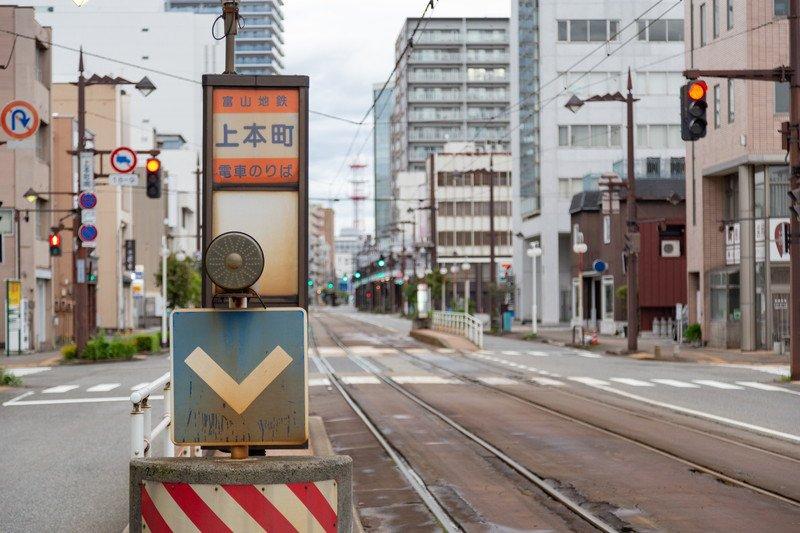市内路面電車「上本町」駅